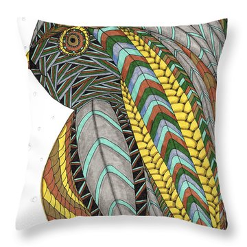 Bird_inquisitive_s007 Throw Pillow