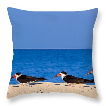 Birdline Throw Pillow by Gary Dean Mercer Clark