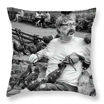 Throw Pillow featuring the photograph Birdman Of Wsp by Eric Lake