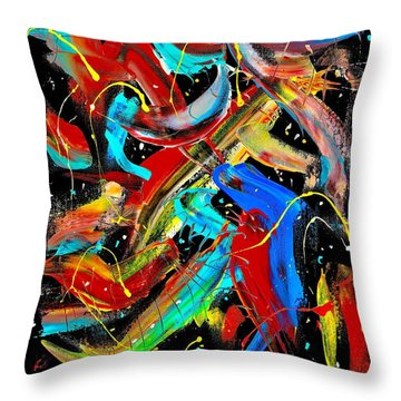 Birds Are Fish Throw Pillow