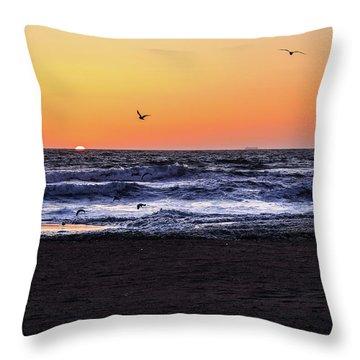 Birds At Sunrise Throw Pillow