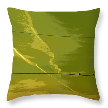 Birds At Sunset Throw Pillow