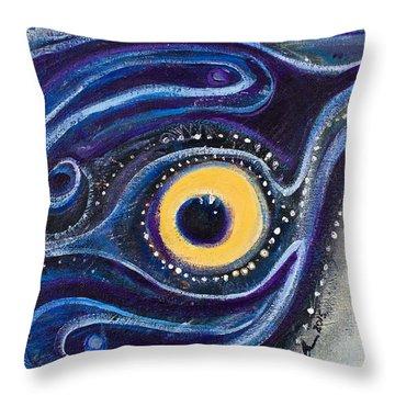Birds Eye Throw Pillow by Leela Payne