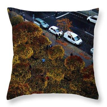 Bird's Eye Of A Berlin Street Throw Pillow