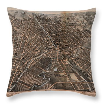 Birds Eye View Of Syracuse, New York  Throw Pillow