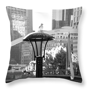 Birds Eye View Of The City Throw Pillow
