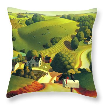 Birds Eye View Throw Pillow