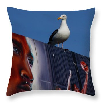 Birds Eye View Throw Pillow by Xn Tyler
