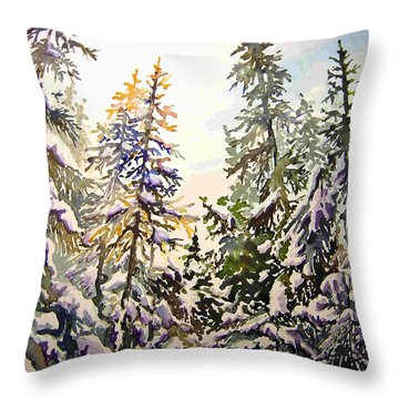 Birds Hill Park One Late Afternoon In January Throw Pillow by Joanne Smoley