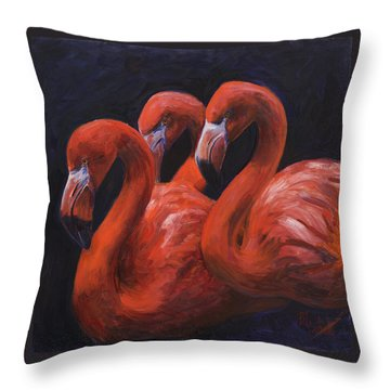 Birds Of A Feather Throw Pillow by Billie Colson