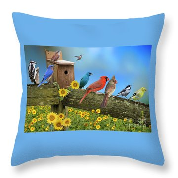 Throw Pillow featuring the photograph Birds Of A Feather by Bonnie Barry