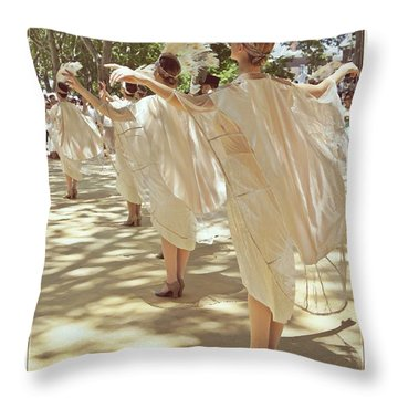 Birds Of A Feather Follies Throw Pillow