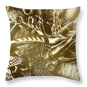 Birds Of Metal Throw Pillow