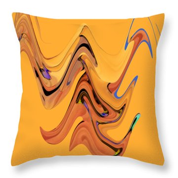 Throw Pillow featuring the digital art Birds Of Paradise Improvisation by Gina Harrison