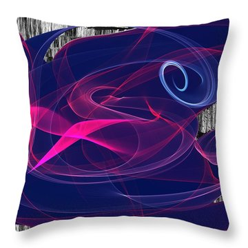Throw Pillow featuring the digital art Birds Of Paradise by Maciek Froncisz