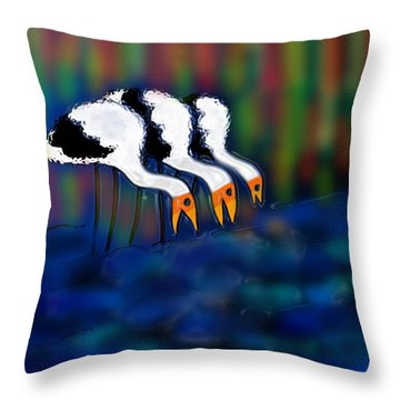 Birds Of Same Feather Throw Pillow by Latha Gokuldas Panicker