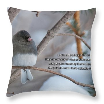 Birds Of The Air Throw Pillow