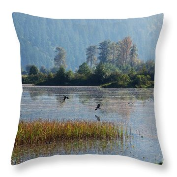 Birds Paradise Throw Pillow