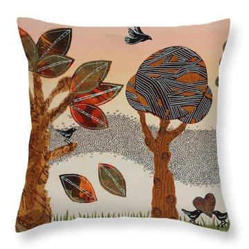 Birds Refuge Throw Pillow