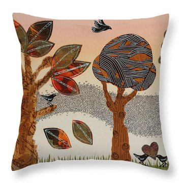 Birds Refuge Throw Pillow