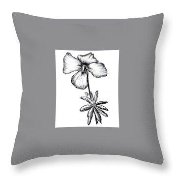 Birdsfoot Violet Throw Pillow