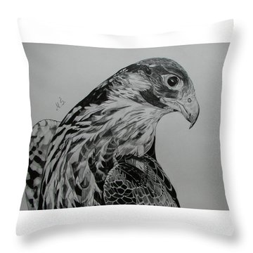 Birdy Throw Pillow by Melita Safran