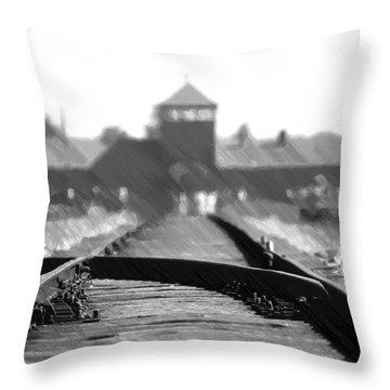 Birkenau / Auschwitz Railhead - Pol402324 Throw Pillow