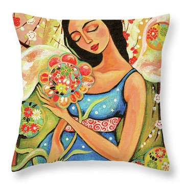 Birth Flower Throw Pillow