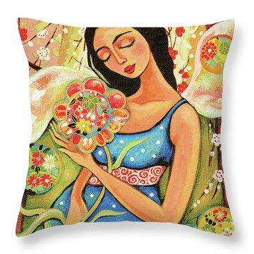 Birth Flower Throw Pillow
