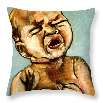 Birth Throw Pillow by John Keaton