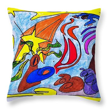 Birth Narrative Throw Pillow by Martin Cline