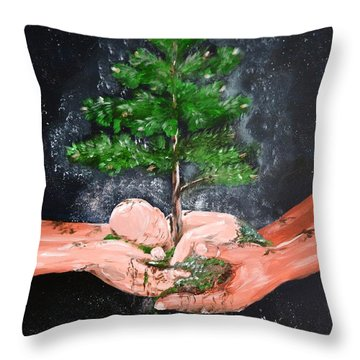 Birth Of A Dream Throw Pillow