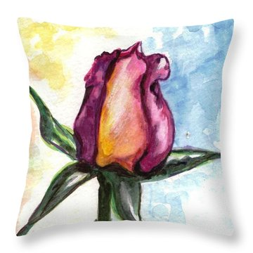 Throw Pillow featuring the painting Birth Of A Life by Harsh Malik