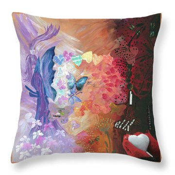 Birth Of A Monarch Throw Pillow