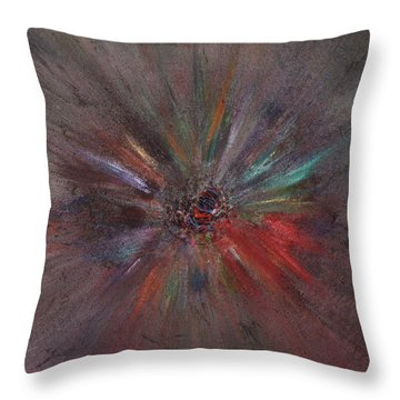 Throw Pillow featuring the painting Birth Of A Soul by Michael Lucarelli