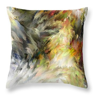 Birth Of Feathers Throw Pillow by Dale Stillman
