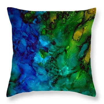 Birth Of Green Throw Pillow