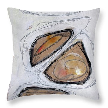 Throw Pillow featuring the painting Birth Of Logic by Rick Baldwin