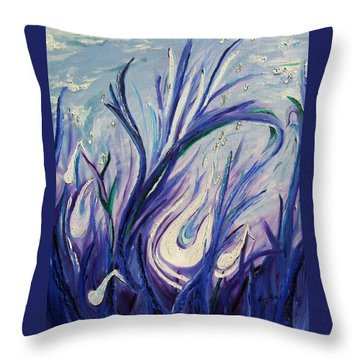 Birth Of Music Throw Pillow