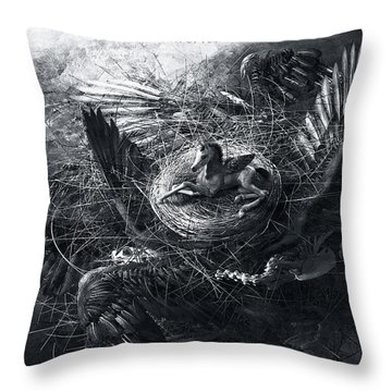 Birth Of Pegasus Throw Pillow