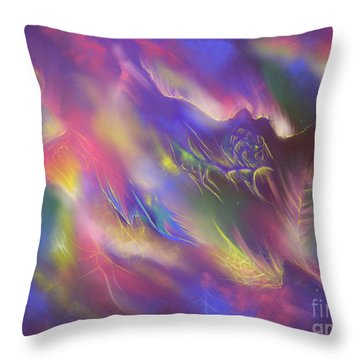 Throw Pillow featuring the digital art Birth Of The Phoenix by Amyla Silverflame