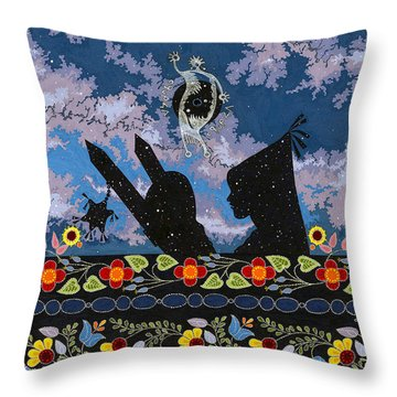 Throw Pillow featuring the painting Birth Of The Universe by Chholing Taha