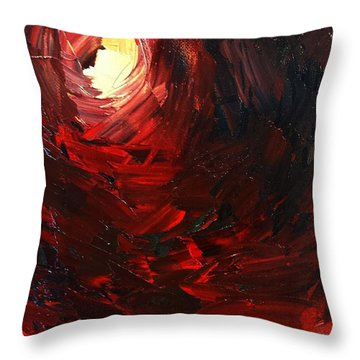 Throw Pillow featuring the painting Birth by Sheila Mcdonald