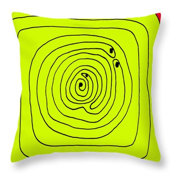 Birth Throw Pillow by Sir Josef - Social Critic -  Maha Art