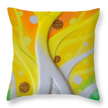 Birth Yellowgold 3 Throw Pillow