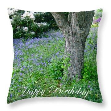 Birthday Carpet Of Blue Throw Pillow