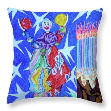 Birthday Clown Throw Pillow by Robert SORENSEN