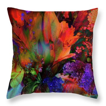 Birthday Flowers Throw Pillow
