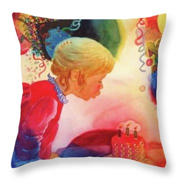 Birthday Party Throw Pillow by Marilyn Jacobson