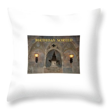 Birthday Sorted Throw Pillow